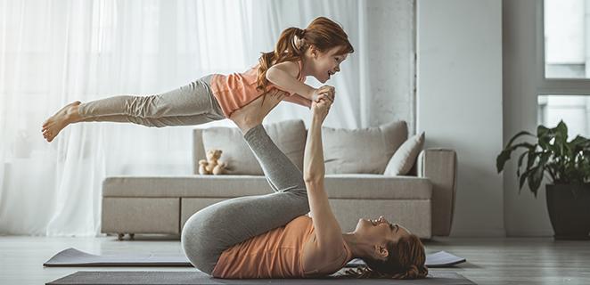 Specchi, alligatori e gru: l'attività fisica è un gioco in casa