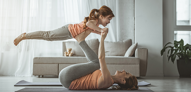 Mirrors, alligators and cranes: physical activity at home is a game