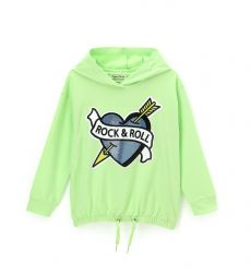 SWEATSHIRT WITH HOOD AND LACES