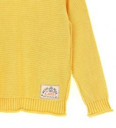 COTTON PULLOVER WITH RIBBED FINISHES