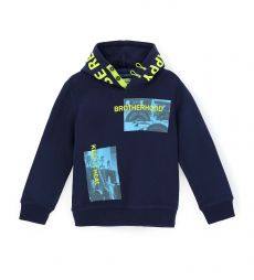 HOODED SWEATSHIRT LINED 2 BUTTONS