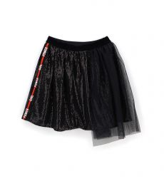TULLE SKIRT WITH MICRO SEQUINS