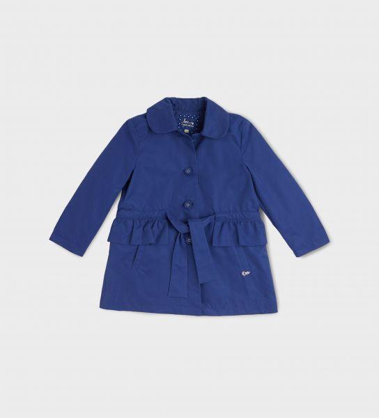 Coat with ruffles