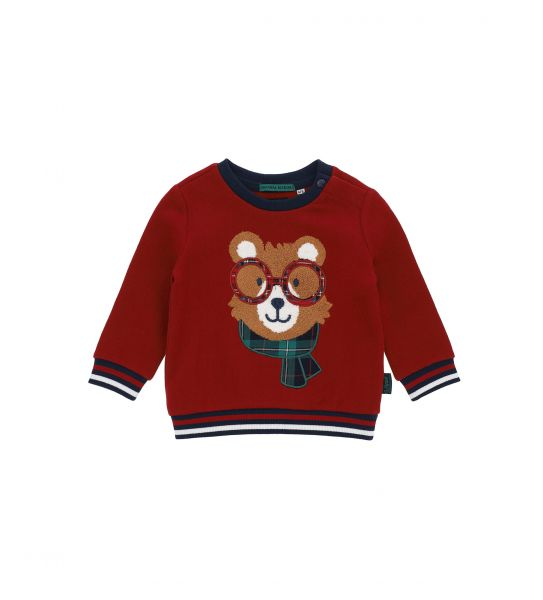 COTTON SWEATSHIRT WITH EMBROIDERY PRINT IN FRONT