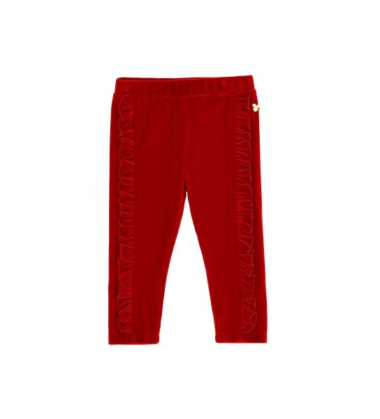 CHENILLE PANTS WITH ROUCHE