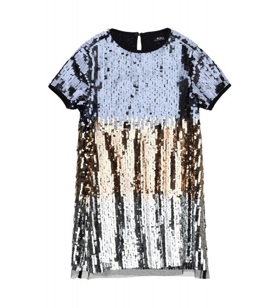 DRESS WITH SEQUIN ALL OVER