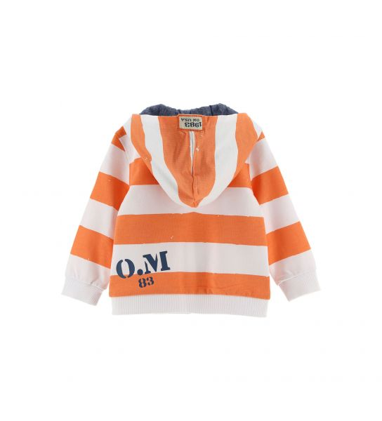SWEATSHIRT WITH ALL OVER PRINT AND LINED HOOD