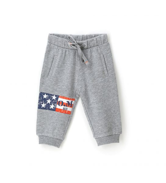 COTTON SWEATPANTS WITH FRONT PRINT