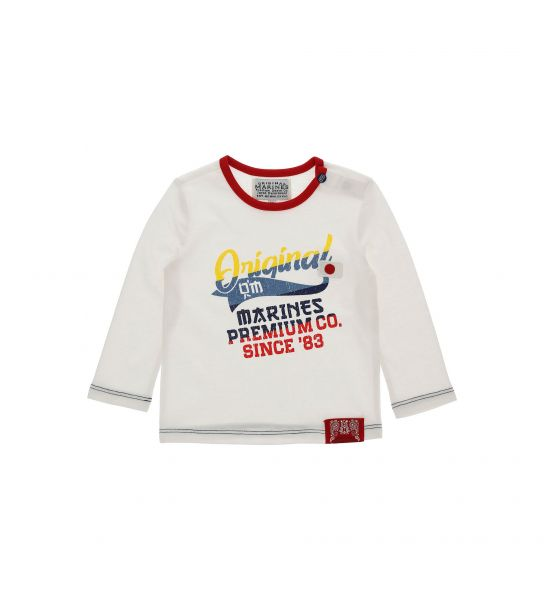 LONG SLEEVE T-SHIRT WITH PRINT AND EMBROIDERY