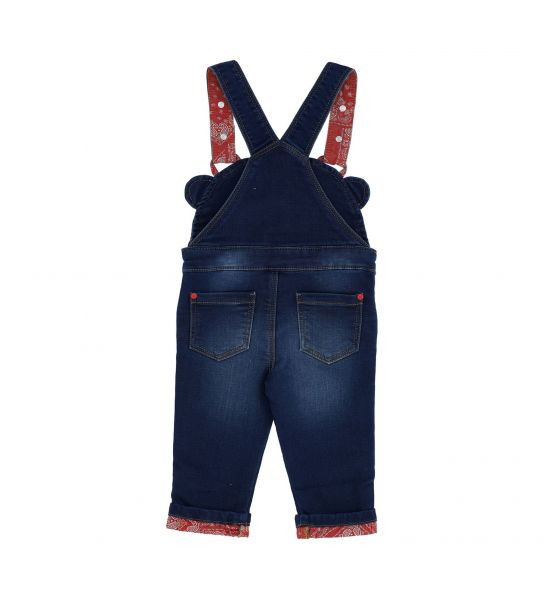 SALOPETTE IN FELPA DENIM CON BRETELLE