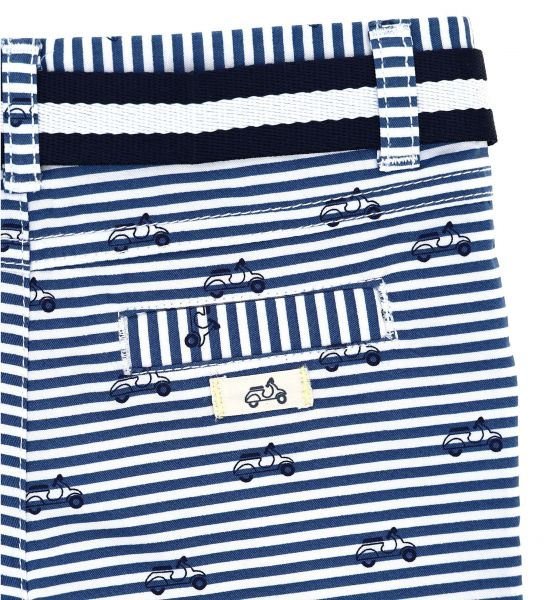 BERMUDA IN COTTON WITH ALL OVER PRINT AND TWO-TONE BELT