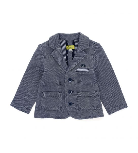 DOUBLE OXFORD COTTON PIQUET JACKET