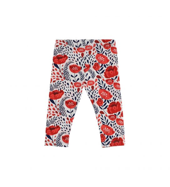 STRETCH COTTON LEGGINGS WITH ALL OVER PRINT