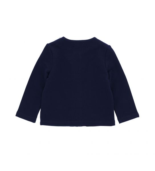SWEAT JACKET IN STRETCH COTTON AND BOWS