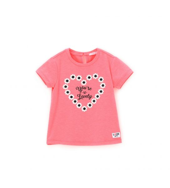 COTTON T-SHIRT SHORT SLEEVE AND FRONT PRINT