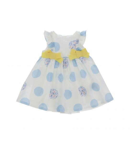 COTTON DRESS WITHOUT SLEEVES AND FRONT BOWS