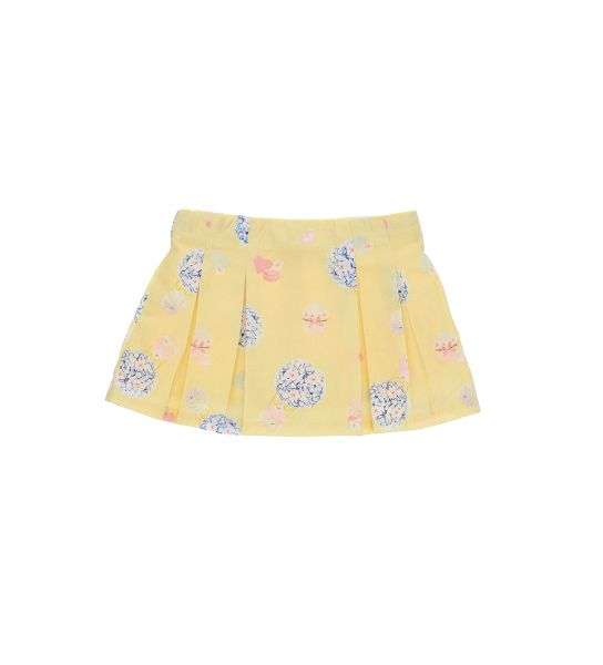 COTTON SKIRT WITH ALL OVER PRINT