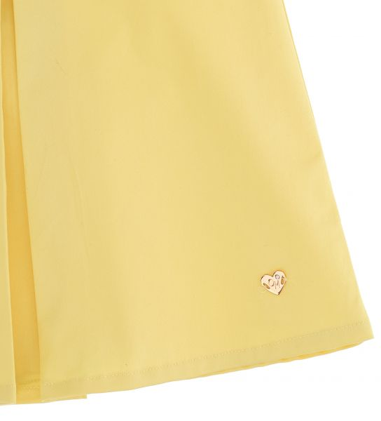 SHORT SLEEVE COTTON SATIN DRESS