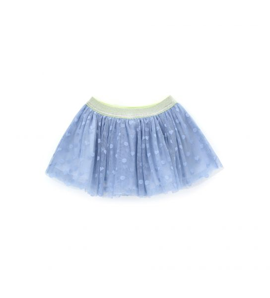 SKIRT IN EMBROIDERED TULLE