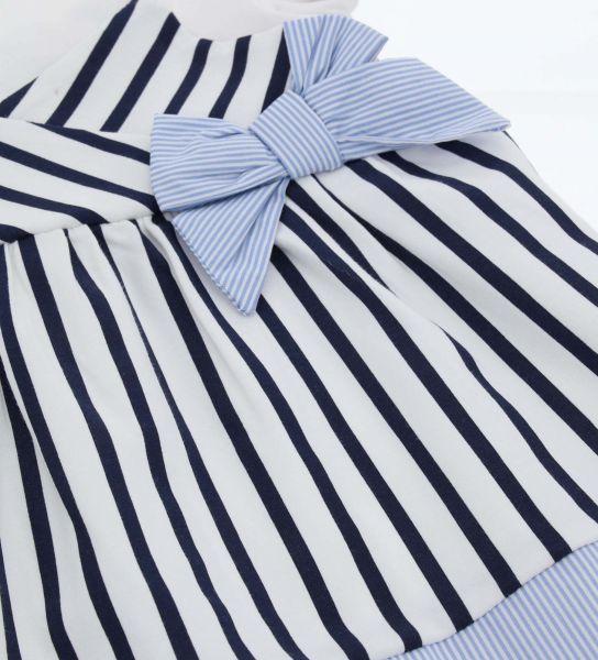 STRETCH COTTON DRESS AND FAKE BRACES