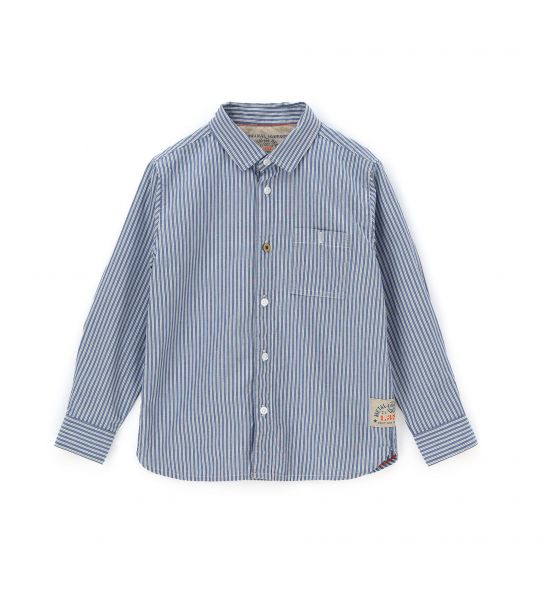 COTTON LONG SLEEVE SHIRT WITH PATCH POCKETS