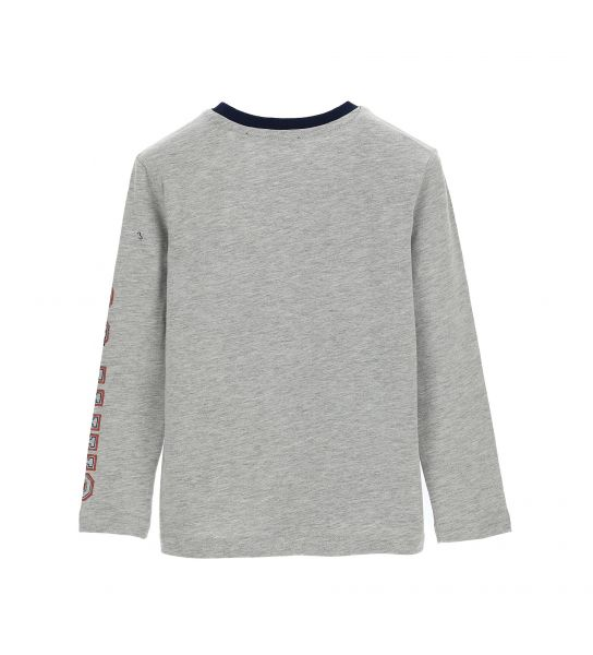 LONG SLEEVE COTTON T-SHIRT AND PRINTS