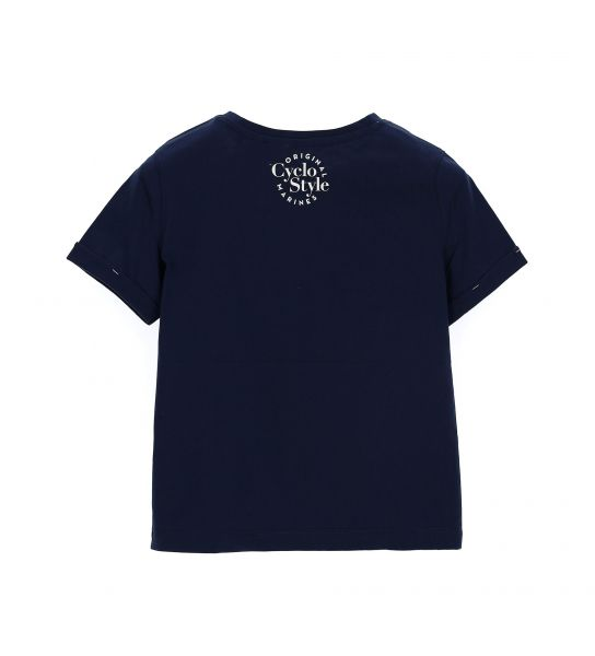 SHORT SLEEVE COTTON T-SHIRT WITH TURN-UP