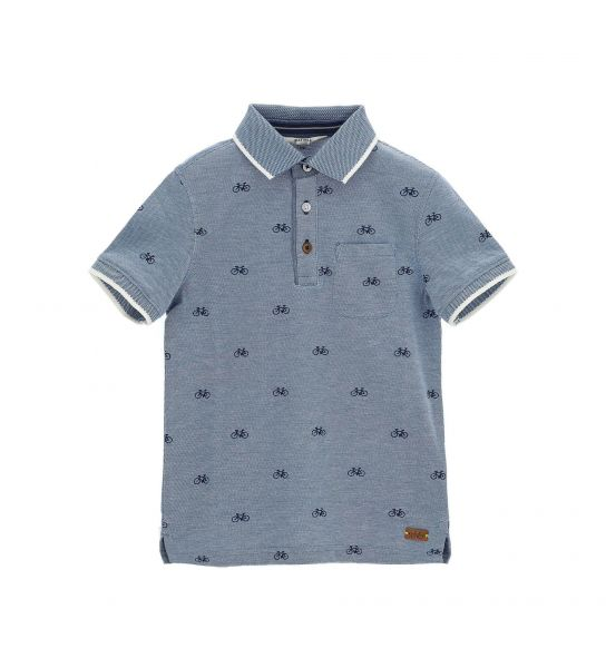 POLO PIQUET SHORT SLEEVE COTTON WITH ALL OVER PRINT