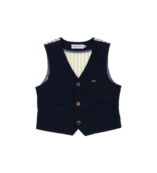 DOUBLE FABRIC STRETCH COTTON VEST
