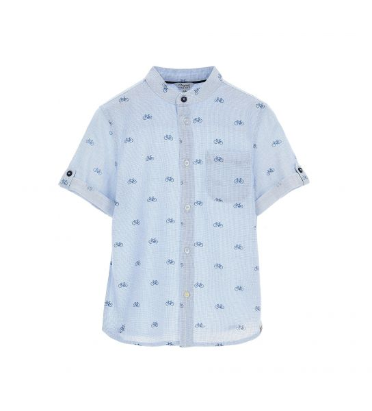 ALL OVER PRINTED COTTON SHORT SLEEVE SHIRT