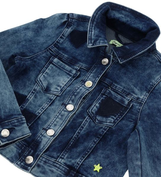 DENIM JACKET WITH HEARTS