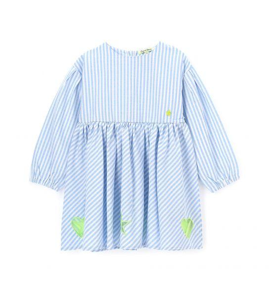 COTTON DRESS WITH BOWS