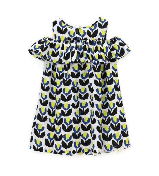 FLOUNCE COTTON DRESS