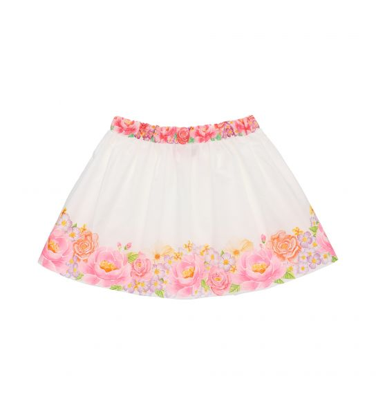SATIN SKIRT WITH ELASTIC WAIST