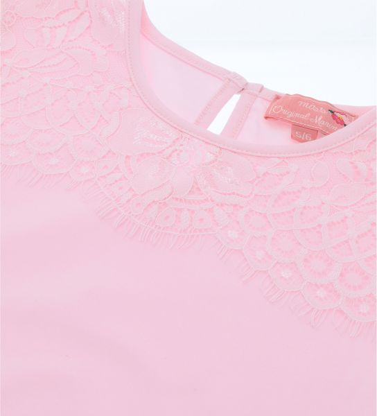 COTTON T-SHIRT WITH LACE