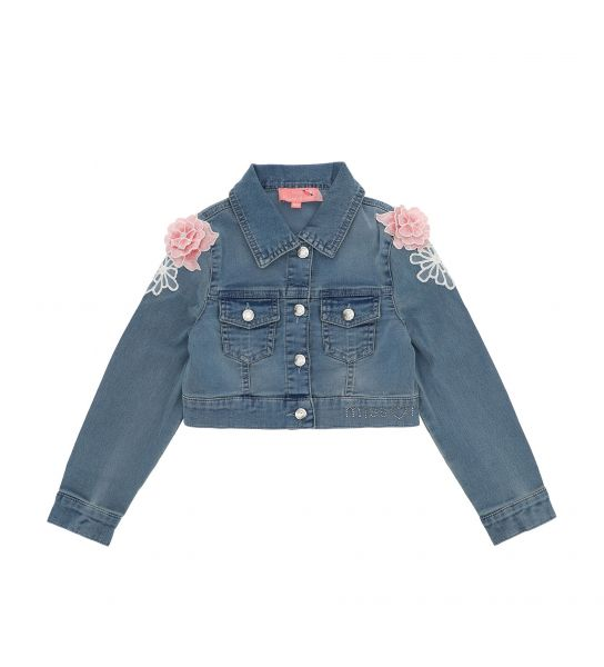 SHORT JACKET IN DENIM