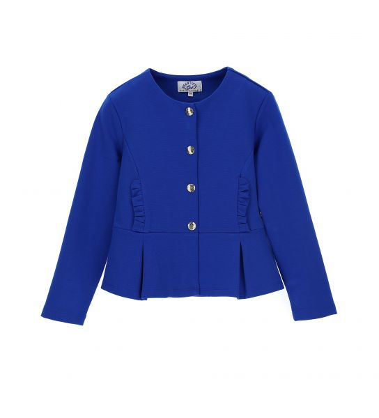 MILAN STITCH JACKET WITH RUFFLE