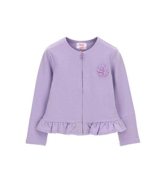 SWEATSHIRT WITH RUFFLES AT THE BOTTOM