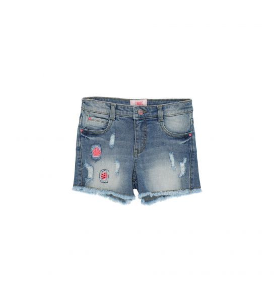SHORT IN STRETCH DENIM 5 POCKETS