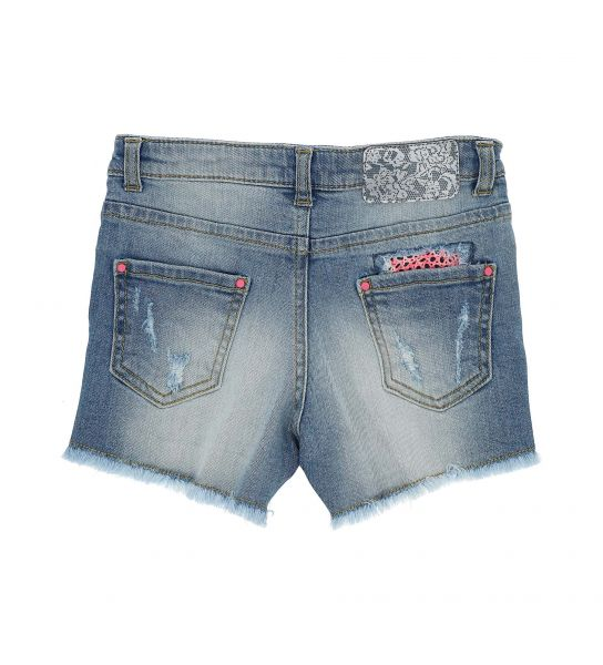 SHORT IN DENIM ELASTICIZZATO 5 TASCHE