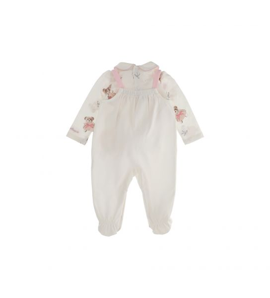 SET IN COTTON T-SHIRT AND DUNGAREES