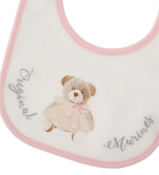 BIB WITH EMBROIDERY AND PRINT IN FRONT
