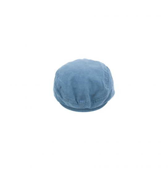 COTTON HAT WITH DENIM EFFECT