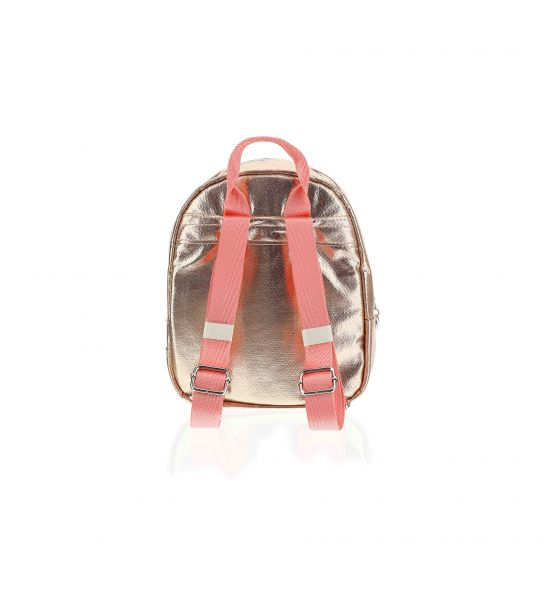 LUREX EFFECT BACKPACK WITH EMBROIDERY