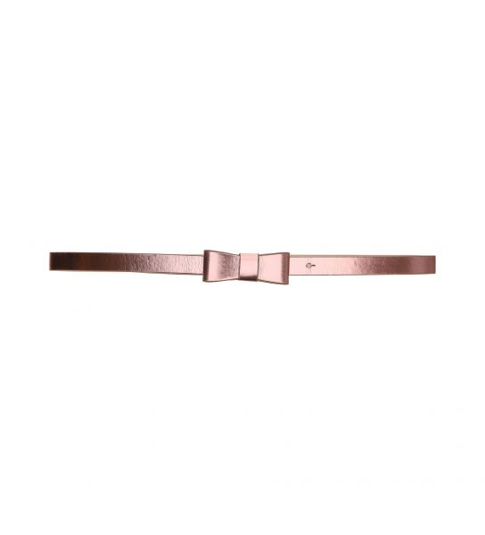 METALLIC EFFECT ECO-LEATHER BELT