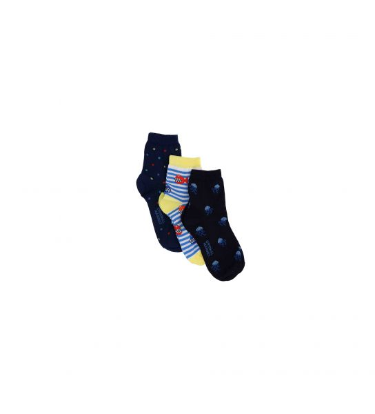 SHORT COTTON SOCKS WITH JACQUARD PATTERN