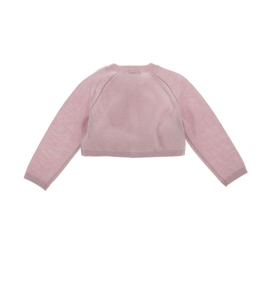 SHORT PULLOVER IN LUREX YARN WITH LONG SLEEVE