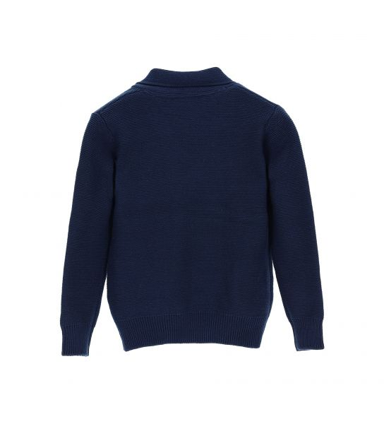DOUBLE-BREASTED COTTON PULLOVER