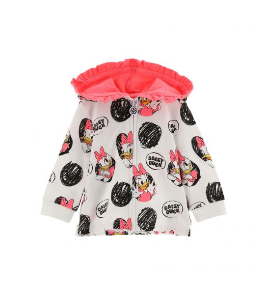 DISNEY DAISY STRETCH HOODED SWEATSHIRT
