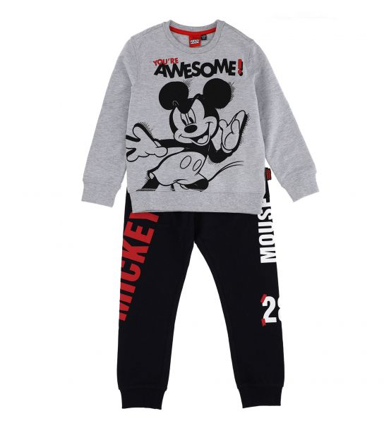 COTTON SWEATSUIT WITH DISNEY MICKEY PRINT